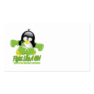Non Hodgkin's Lymphoma Fighting Penguin Pack Of Standard Business Cards