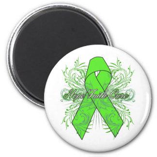 Non-Hodgkins Lymphoma Flourish Hope Faith Cure Refrigerator Magnet