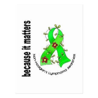 Non-Hodgkin's Lymphoma Flower Ribbon 3 Postcard