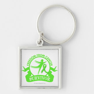 Non-Hodgkins Lymphoma - Freedom From Cancer Silver-Colored Square Key Ring