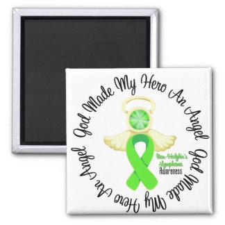 Non-Hodgkins Lymphoma God Made My Hero An Angel Square Magnet