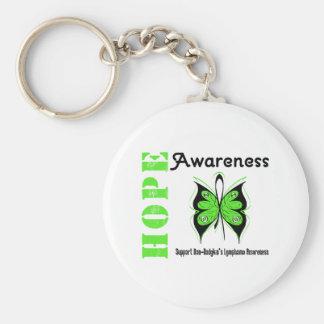 Non-Hodgkin's Lymphoma Hope Awareness Basic Round Button Key Ring
