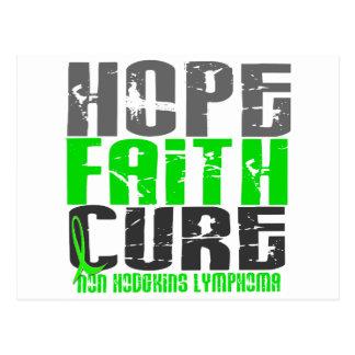 Non-Hodgkin's Lymphoma HOPE FAITH CURE 1 Postcard