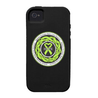 Non-Hodgkins Lymphoma Hope Intertwined Ribbon Case-Mate iPhone 4 Cases