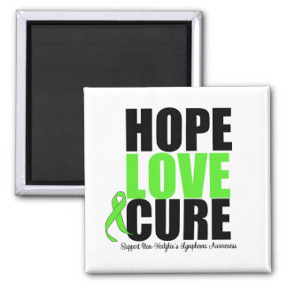 Non-Hodgkin's Lymphoma Hope Love Cure Refrigerator Magnets