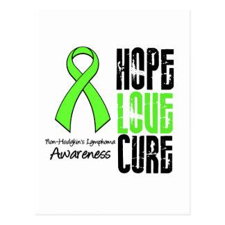 Non-Hodgkin's Lymphoma Hope Love Cure Ribbon Postcard