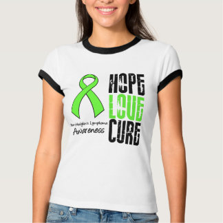 Non-Hodgkin's Lymphoma Hope Love Cure Ribbon T-Shirt