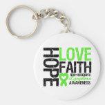 Non-Hodgkin's Lymphoma Hope Love Faith Keychains