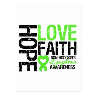Non-Hodgkin's Lymphoma Hope Love Faith Post Cards