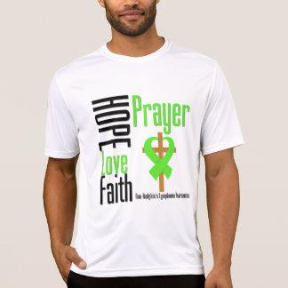 Non-Hodgkins Lymphoma Hope Love Faith Prayer Cross T-shirt