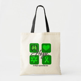 Non Hodgkins Lymphoma Hope Love Inspire Awareness Budget Tote Bag