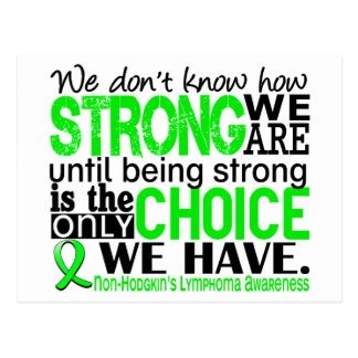 Non-Hodgkins Lymphoma How Strong We Are Post Cards