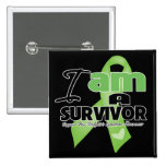 Non-Hodgkins Lymphoma - I am a Survivor 15 Cm Square Badge