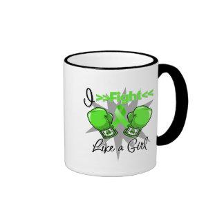 Non-Hodgkins Lymphoma I Fight Like a Girl With Glo Ringer Mug