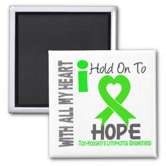Non-Hodgkins Lymphoma I Hold On To Hope Square Magnet
