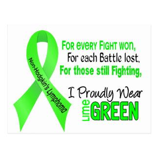 Non-hodgkins Lymphoma I Proudly Wear Lime Green Postcard