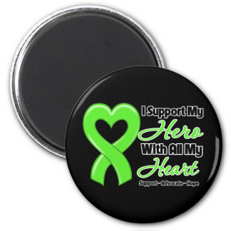 Non-Hodgkins Lymphoma I Support My Hero With All M 6 Cm Round Magnet
