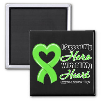 Non-Hodgkins Lymphoma I Support My Hero With All M Square Magnet