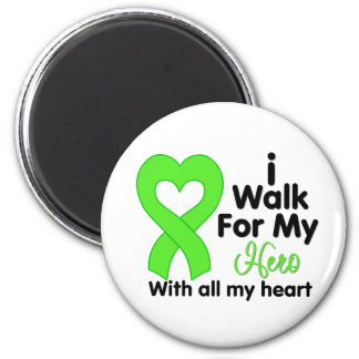 Non-Hodgkin's Lymphoma I Walk For My Hero 6 Cm Round Magnet