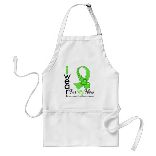 Non Hodgkin's Lymphoma I Wear Lime Green HERO Apron