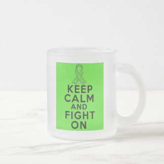 Non-Hodgkins Lymphoma Keep Calm and Fight On Frosted Glass Mug