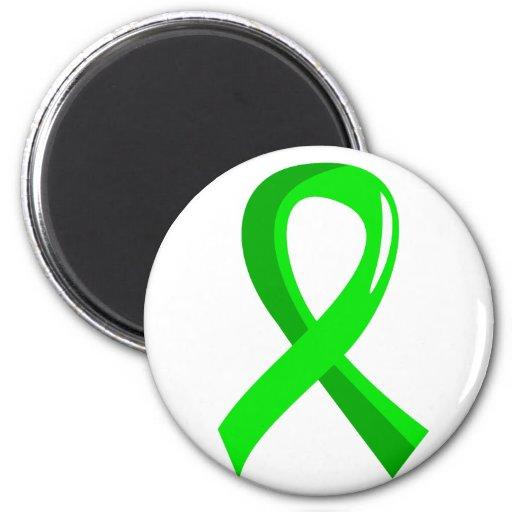 Non-Hodgkin's Lymphoma Lime Green Ribbon 3 Refrigerator Magnet