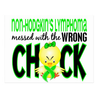Non-Hodgkin's Lymphoma Messed With The Wrong Chick Post Card