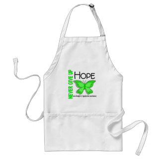 Non-Hodgkins Lymphoma Never Give Up Hope Butterfly Standard Apron