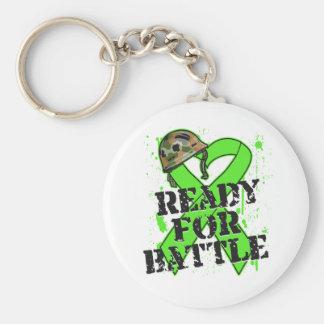 Non-Hodgkin's Lymphoma Ready For Battle Basic Round Button Key Ring