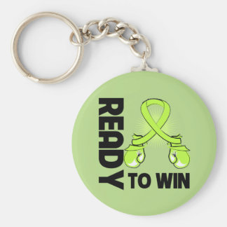 Non-Hodgkins Lymphoma Ready to Win Basic Round Button Key Ring