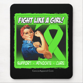 Non-Hodgkins Lymphoma Rosie Riveter FightLikeAGirl Mouse Pad