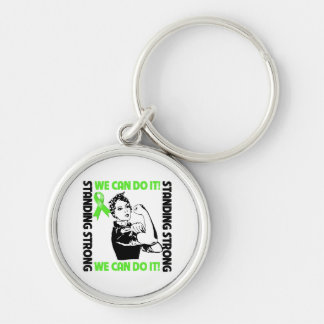 Non-Hodgkins Lymphoma Standing Strong We Can Do It Key Chains