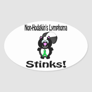 Non-Hodgkins Lymphoma Stinks Skunk Awareness Oval Sticker