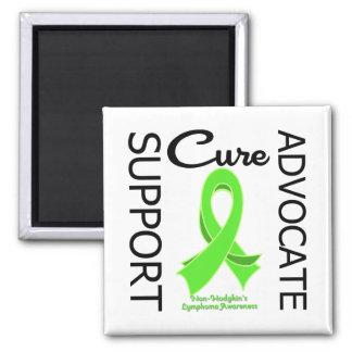 Non-Hodgkin's Lymphoma Support Advocate Cure Square Magnet
