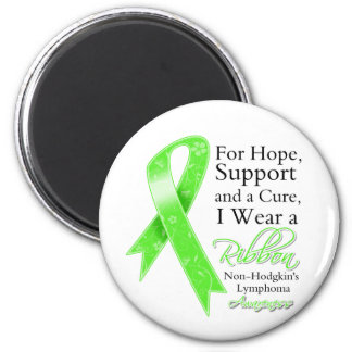 Non-Hodgkins Lymphoma Support Hope Awareness 6 Cm Round Magnet