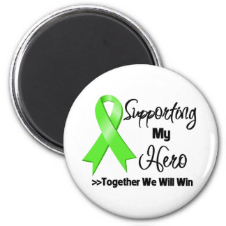 Non-Hodgkins Lymphoma Supporting My Hero 6 Cm Round Magnet