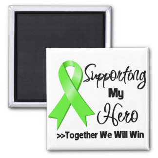 Non-Hodgkins Lymphoma Supporting My Hero Square Magnet