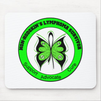 Non-Hodgkin's Lymphoma Survivor Butterfly Mouse Pad