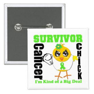 Non Hodgkins Lymphoma Survivor Chick Ribbon Pins