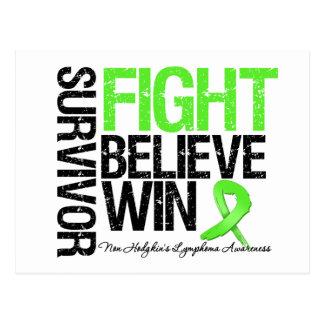 Non Hodgkins Lymphoma Survivor Fight Believe Win M Post Card