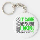 Non-Hodgkins Lymphoma Survivor It Came We Fought Key Chain