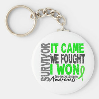 Non-Hodgkins Lymphoma Survivor It Came We Fought Basic Round Button Key Ring
