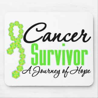 Non Hodgkins Lymphoma Survivor Journey Ribbon Mouse Pads