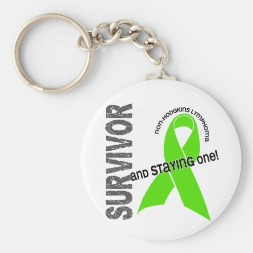 Non-Hodgkins Lymphoma Survivor Keychain
