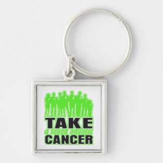 Non-Hodgkins Lymphoma -Take A Stand Against Cancer Silver-Colored Square Key Ring