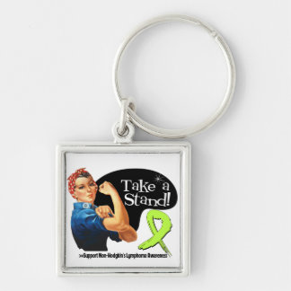 Non-Hodgkins Lymphoma Take a Stand Keychain