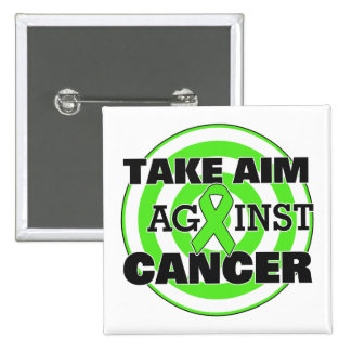 Non-Hodgkin's Lymphoma Take Aim Against Cancer 15 Cm Square Badge