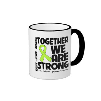 Non-Hodgkins Lymphoma Together We Are Strong.png Ringer Mug