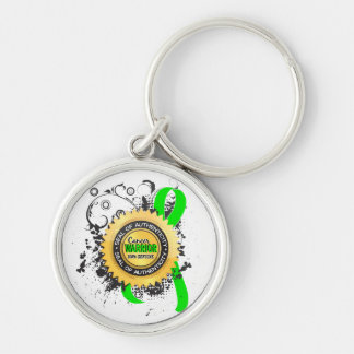 Non-Hodgkin's Lymphoma Warrior 23 Silver-Colored Round Key Ring