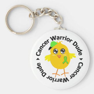 Non Hodgkins Lymphoma Warrior Dude Basic Round Button Key Ring